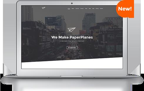 Paperplane Creative One Page Joomla Template